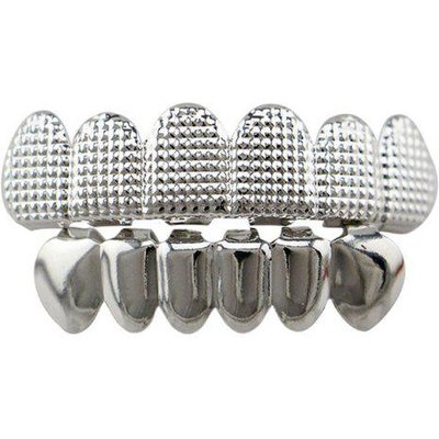 Hip Hop Cool Top Bottom Teeth Grillz Set