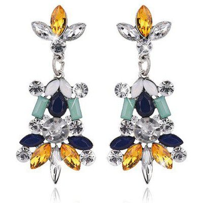 Statement Faux Crystal Rhinestone Earrings
