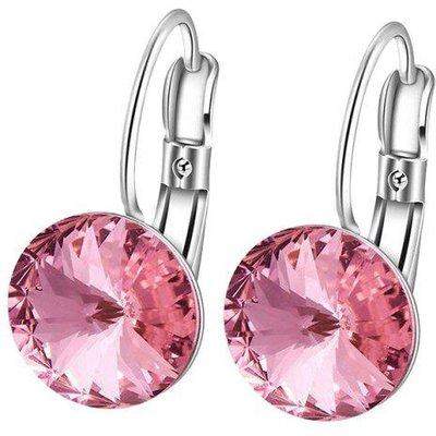 Faux Diamond Drop Clip Earrings