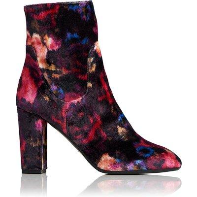 Pellino Floral Velvet Ankle Boots