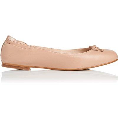 Thea Beige Soft Nappa Leather Flats