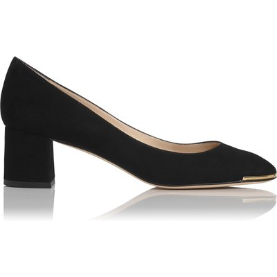 Clemence Black Suede Courts