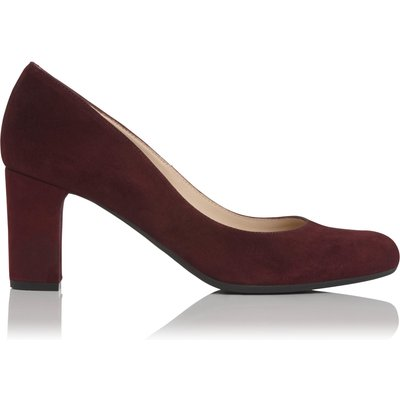 Sersha Burgundy Suede Wide Fit Courts