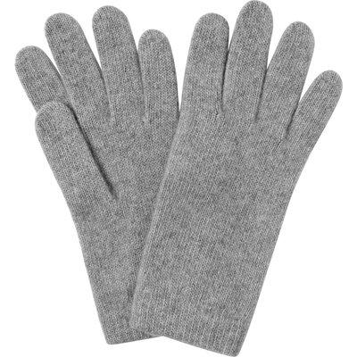 Gene Light Grey Cashmere Gloves