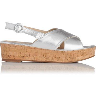Klara Silver Metallic Leather Sandals
