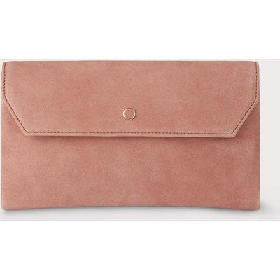 Dora Dark Pink Suede Clutch