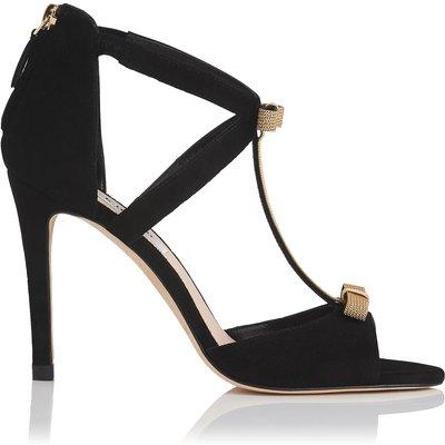 Niki Black Suede Formal Sandals