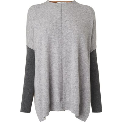 Nomi Grey Camel Cashmere Mix Jumper