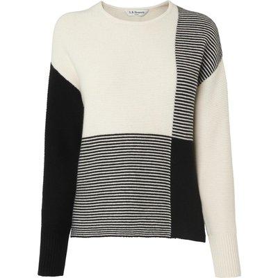 Tone Check Print Wool Jumper