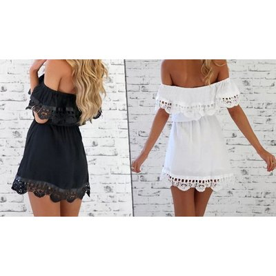 Lace Strapless Summer Dress - 2 Colours, 5 Sizes