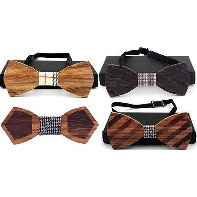 Wood Bowtie - 4 Styles