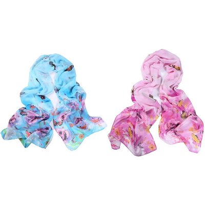 Summer Butterfly Shawl - 2 Colours