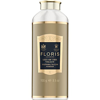 Floris Lily of the Valley Soothing Talc with Aloe Vera, 100g