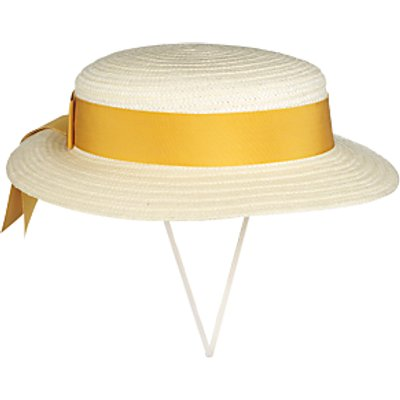 Girls' School Summer Boater Hat, Straw