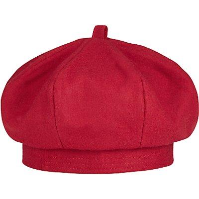 School Plain Beret, Red