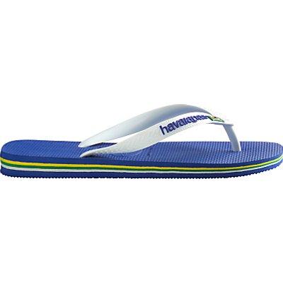 Havaianas Brasil Logo Flip Flops, Blue/White