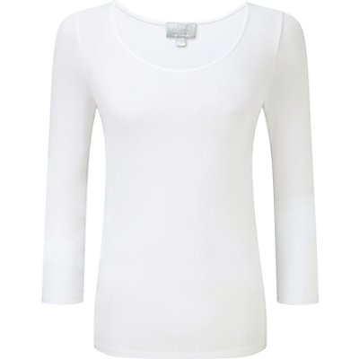 5052265287592 | Pure Collection Soft Jersey Scoop Neck Top  White
