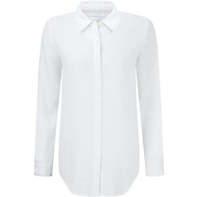 5052265498349 | Pure Collection Laundered Linen Shirt  White