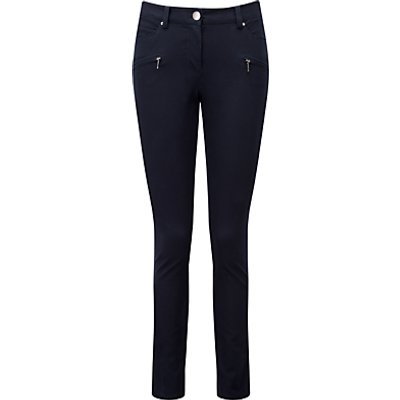 5052265886405 | Pure Collection Landsdowne Cotton Stretch Trousers  Navy