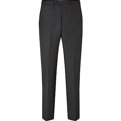 21821325 | John Lewis Birdseye Wool Regular Fit Suit Trousers  Charcoal Store