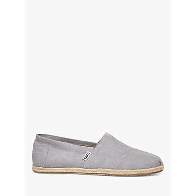 TOMS Classic Linen Espadrilles, Grey