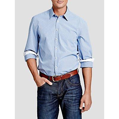 Thomas Pink Longitude Check Slim Fit Shirt, Blue/White