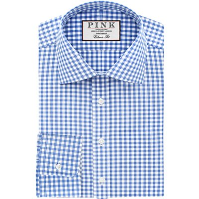 Thomas Pink Summers Check Classic Fit XL Sleeve Shirt