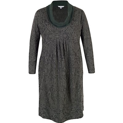 Chesca Baroque Cowl Neck Dress, Charcoal