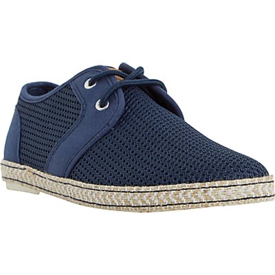 Dune Fennton Lace Up Espadrilles, Navy