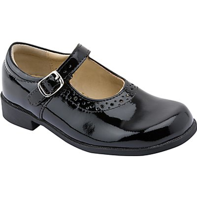 Start-rite Children's Louisa Leather Patent Buckle Shoes, Black