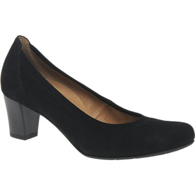 Gabor Creative Wide Fit Block Heeled Court Shoes, Black