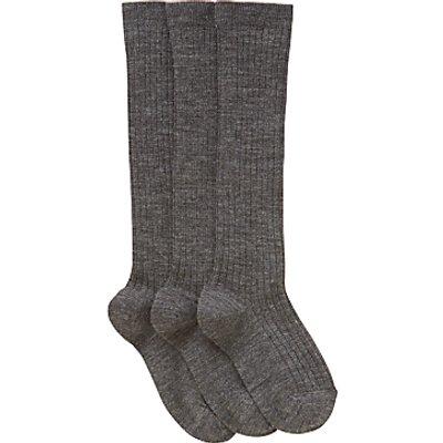 John Lewis Children's Wool Rich Knee High Socks, Pack of 3