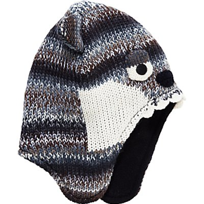 John Lewis Children's Wolf Trapper Hat, Grey/Multi