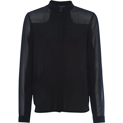 French Connection Polly Plains Longsleeve Roundneck Top