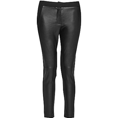 French Connection Street Faux-Leather Trousers, Black