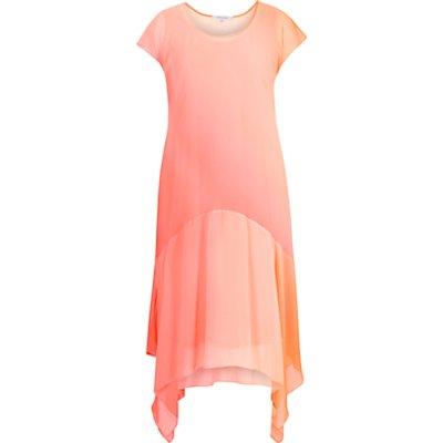 Chesca Ombre Chiffon Dress, Orange/Coral