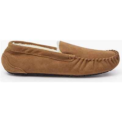 John Lewis Moccasin Faux Fur Lined Slippers