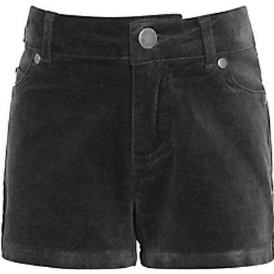 John Lewis Girls' Velvet Shorts, Grey