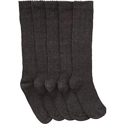John Lewis Children's Hearts Knee High Socks, Pack of 5