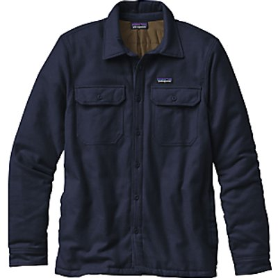 Patagonia Insulated Fjord Flannel Men's Jacket, Navy Blue