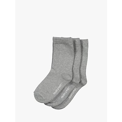 Polarn O. Pyret Children's Plain Socks, Pack of 3
