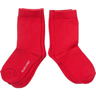 Polarn O. Pyret Children's Plain Socks, Pack of 3