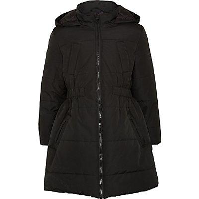 John Lewis Girls' Padded School Coat, Black