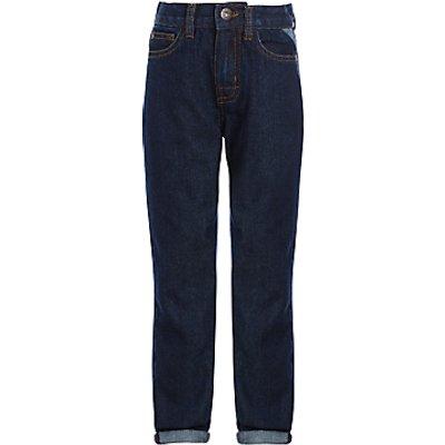 John Lewis Boys' Core Regular Fit Jeans, Dark Wash Denim