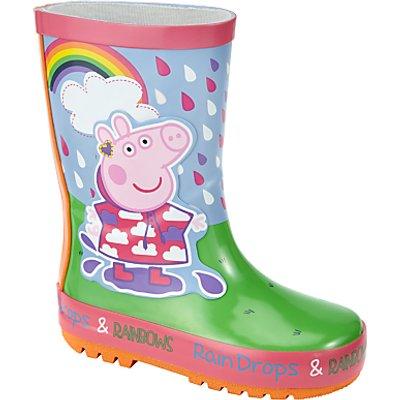 Peppa Pig Children's Rainbow Wellington Boots, Pink/Multi