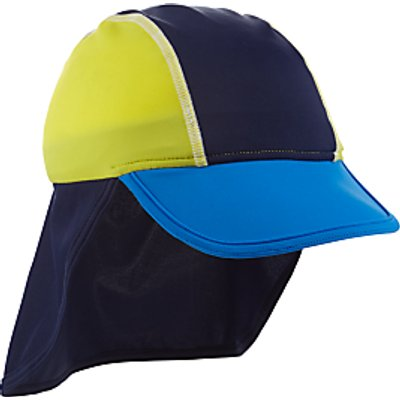 John Lewis Children's Colour Block Keppi Hat, Blue/Yellow