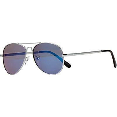 John Lewis Children's Classic Aviator Sunglasses, Silver