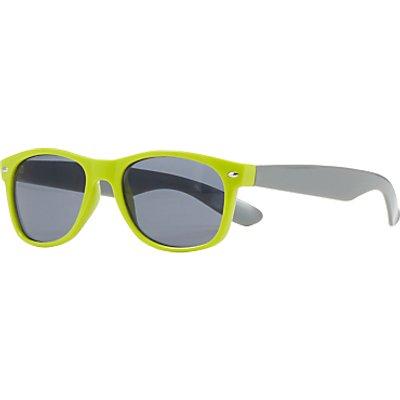 John Lewis Children's Colour Block Wayfarer Sunglasses, Green/Grey