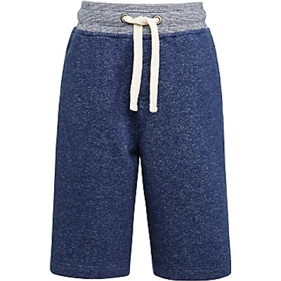 John Lewis Boys' Sweat Jogger Shorts, Blue