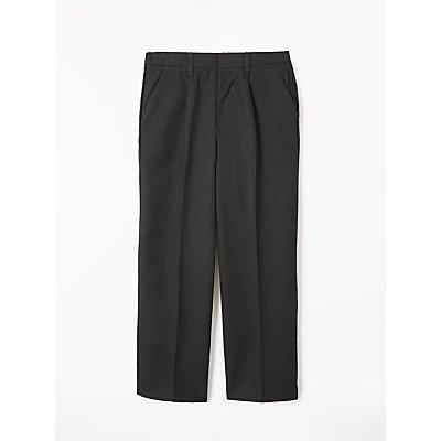 John Lewis Boys' Easy Care Adjustable Waist Generous Fit School Trousers